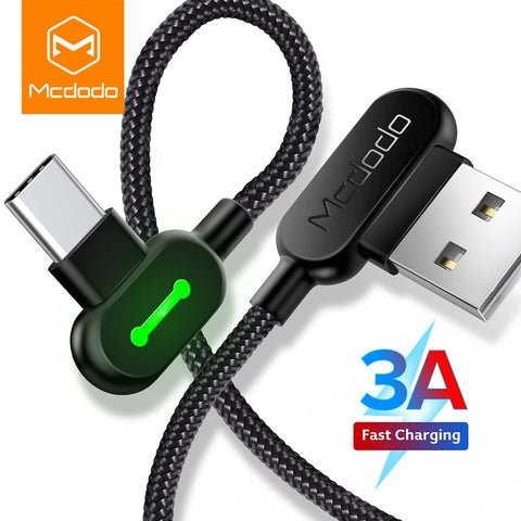 MCDODO 3m USB Type C Fast Charging Data Cord Android Charger USB-C Micro USB Cable For Samsung S8 S9 Note 8