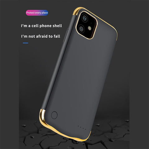 Image of Power bank 6000mAh Extended Battery Case Phone PowerBank Charging Cover for iphone 11/11 Pro/11 Pro Max