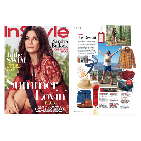 Hiking with Joy Bryant (InStyle Magazine)