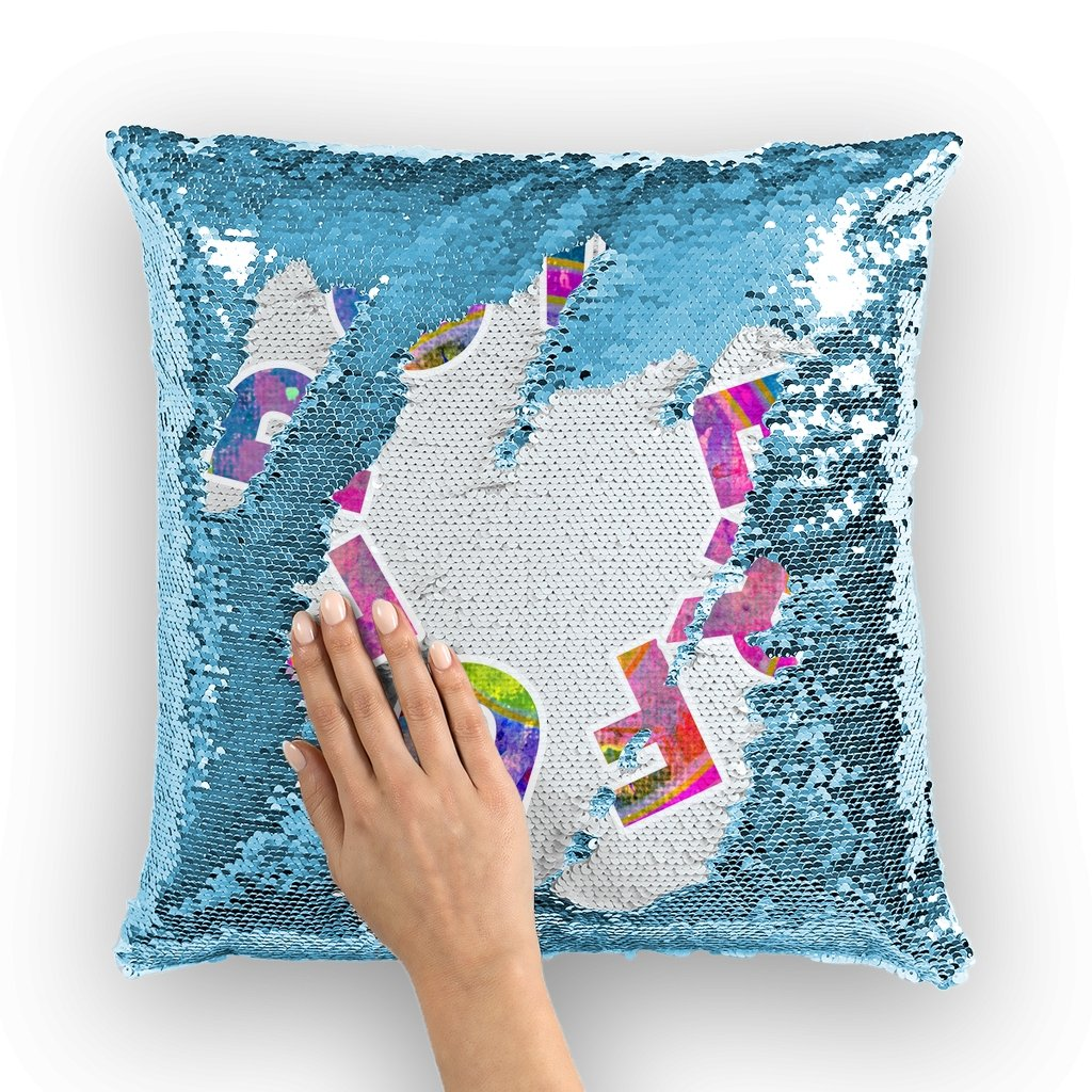 Powerful Sequin Cushion Cover - AADHE