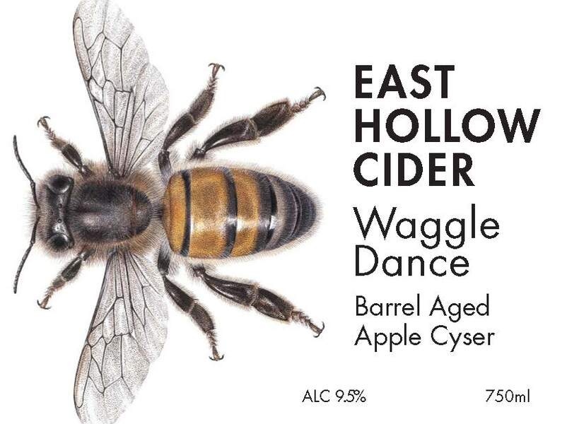 Waggle Dance Barrel Aged Apple Cyser with Honey (375 ml)