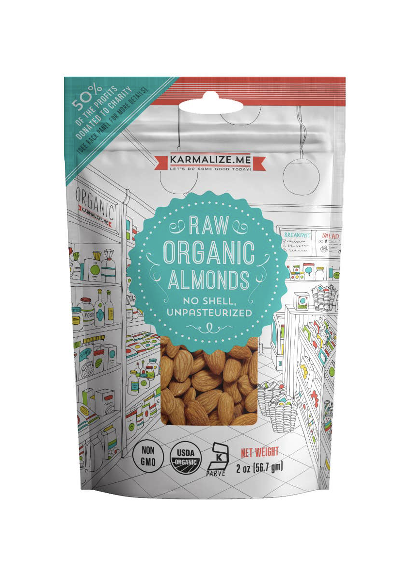 Karmalize.Me Raw Organic Almonds  (2 oz)