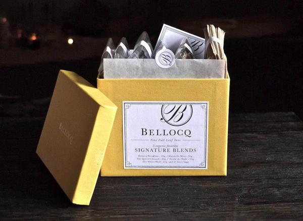 Bellocq Signature Blends Gift Box (130 g tea and 25 filter bags)