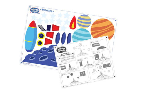 Rocket Ship In Space Wall Art Activity Ki