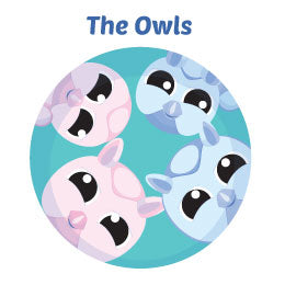 Owls Wall Art Activity Mural Kits for Children