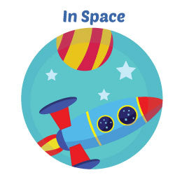 Rocket In Space Wall Art Mural Activity Kits for Children
