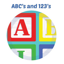 ABC's and 123's Educational Wall Art Mural Activity Kits for Children