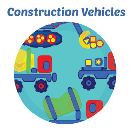 Construction Vehicles Wall Art Mural Activity Decor Kits for Children