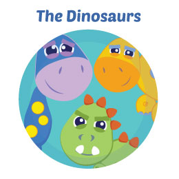 Dinosaurs Wall Art Mural Activity Decor Kits for Kids