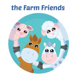 Farm Friends Wall Art Mural Activity Decor Kits for Children
