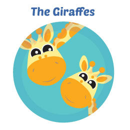 Giraffes Wall Art Activity Mural Kits for Kids Bedrooms and Playrooms