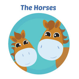 Horses Wall Art Mural Activity Decor Kits for Children
