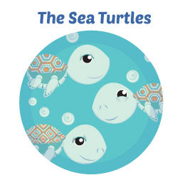 Green Sea Turtles Wall Art Decor Mural Activity Kits for Kids