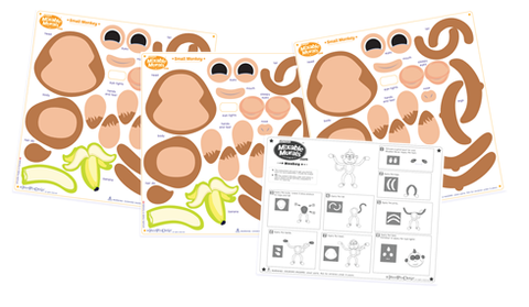 Monkeys Wall Art Mural Activity Kits