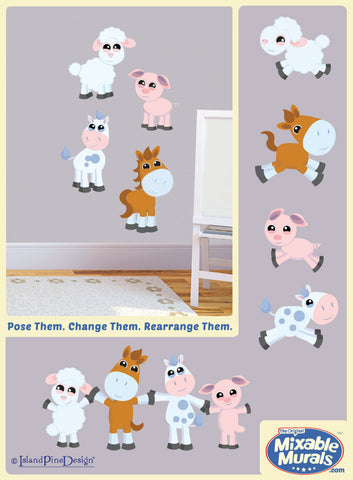Farm Friends | Kids Wall Art Mural Activity Kits