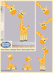 Non toxic boys and girls bedroom and playroom giraffe art activity kit