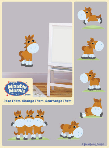Horse 'Small' | Kids Wall Art Mural Activity Kit