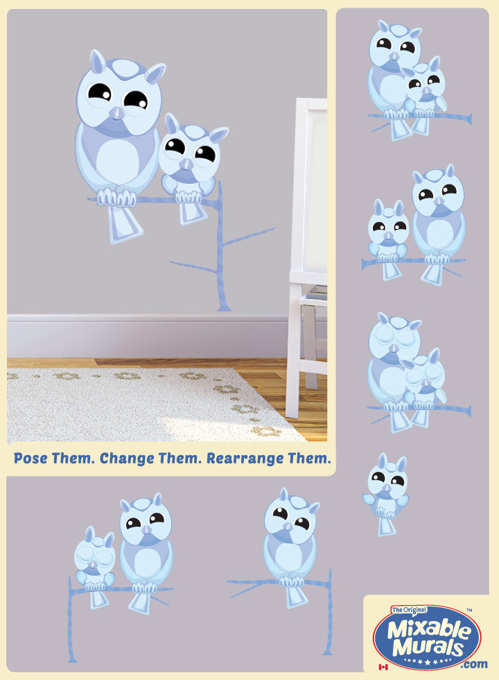 Non toxic boys and girls bedroom and playroom owls art activity kit