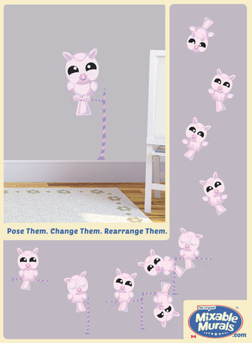 Owl 'Small' Sunrise Pink | Wall Art Activity Kits for Kids