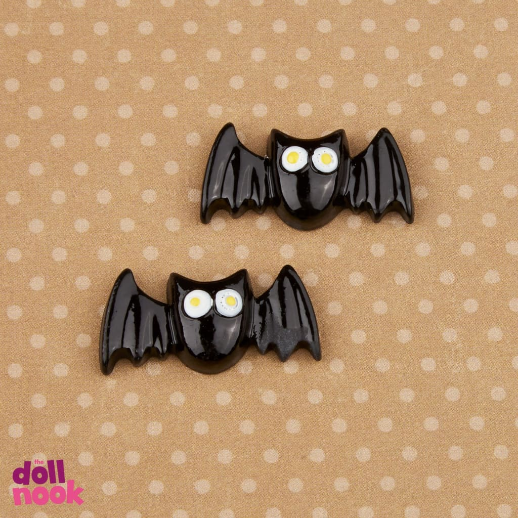 2 resin black bats, 18 inch doll food