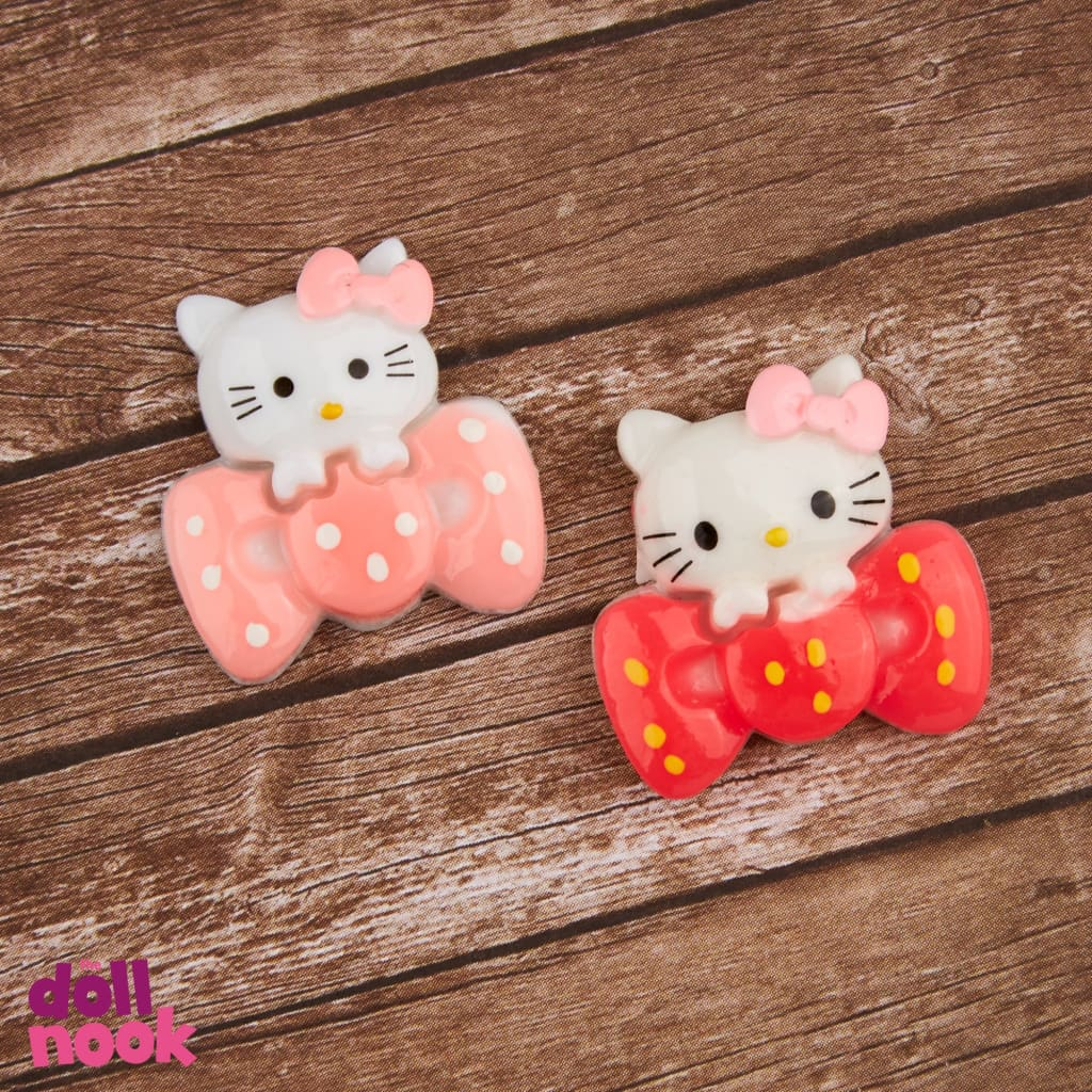 resin hello kitty holding big bows, 18 inch doll food