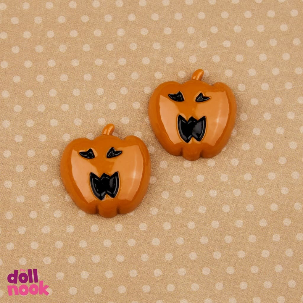 2 resin jack o' lantern cookies, 18 inch doll food