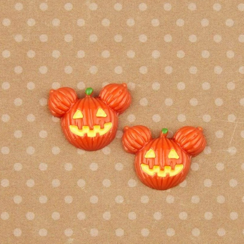 2 RESIN mickey jack o lantern candies, 18 inch doll food