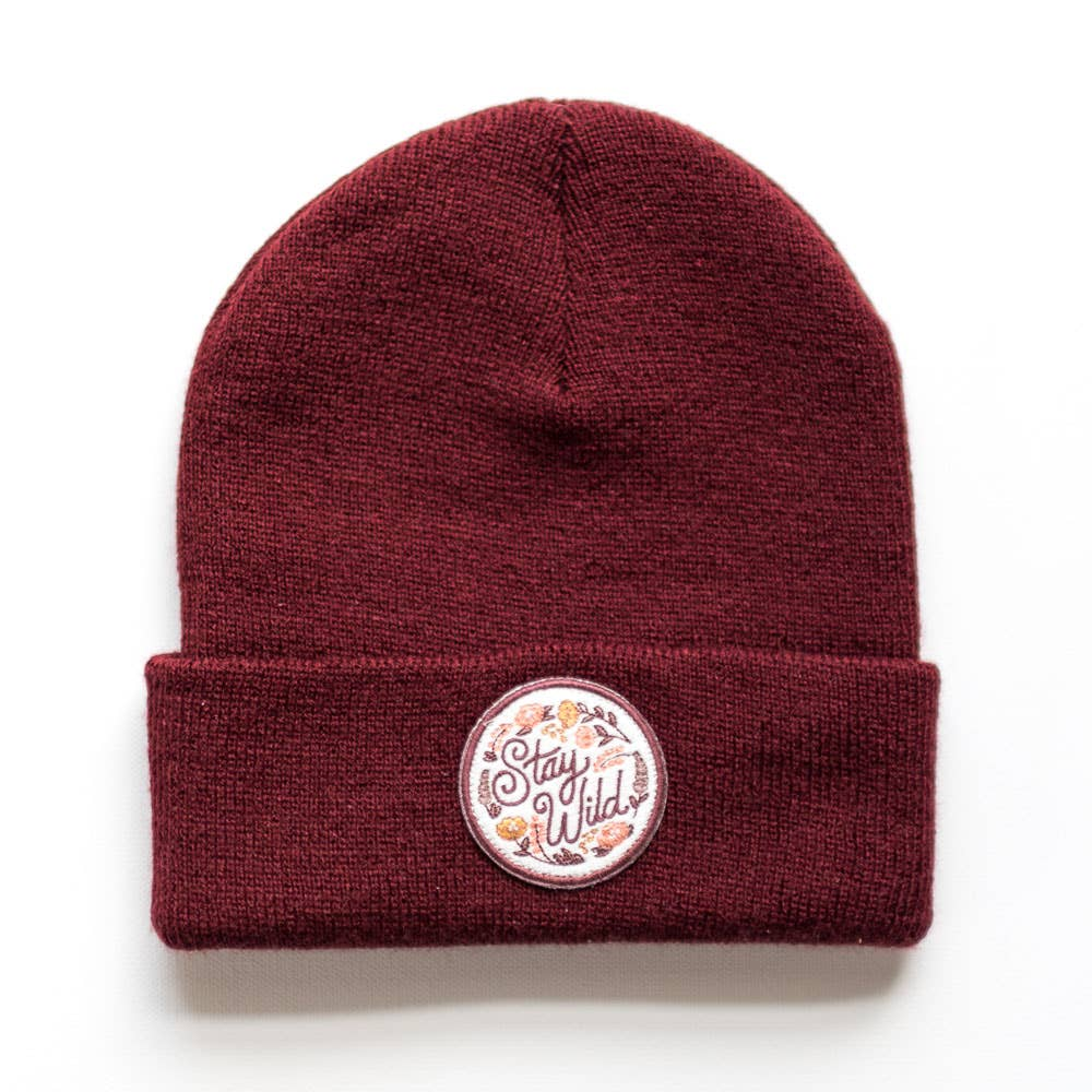 Stay Wild Maple Youth/Adult Beanie