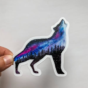 Starlight Wolf Sticker