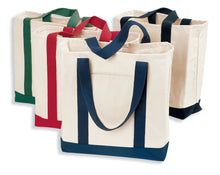 Load image into Gallery viewer, Port Authority Two-Tone Shopping Tote