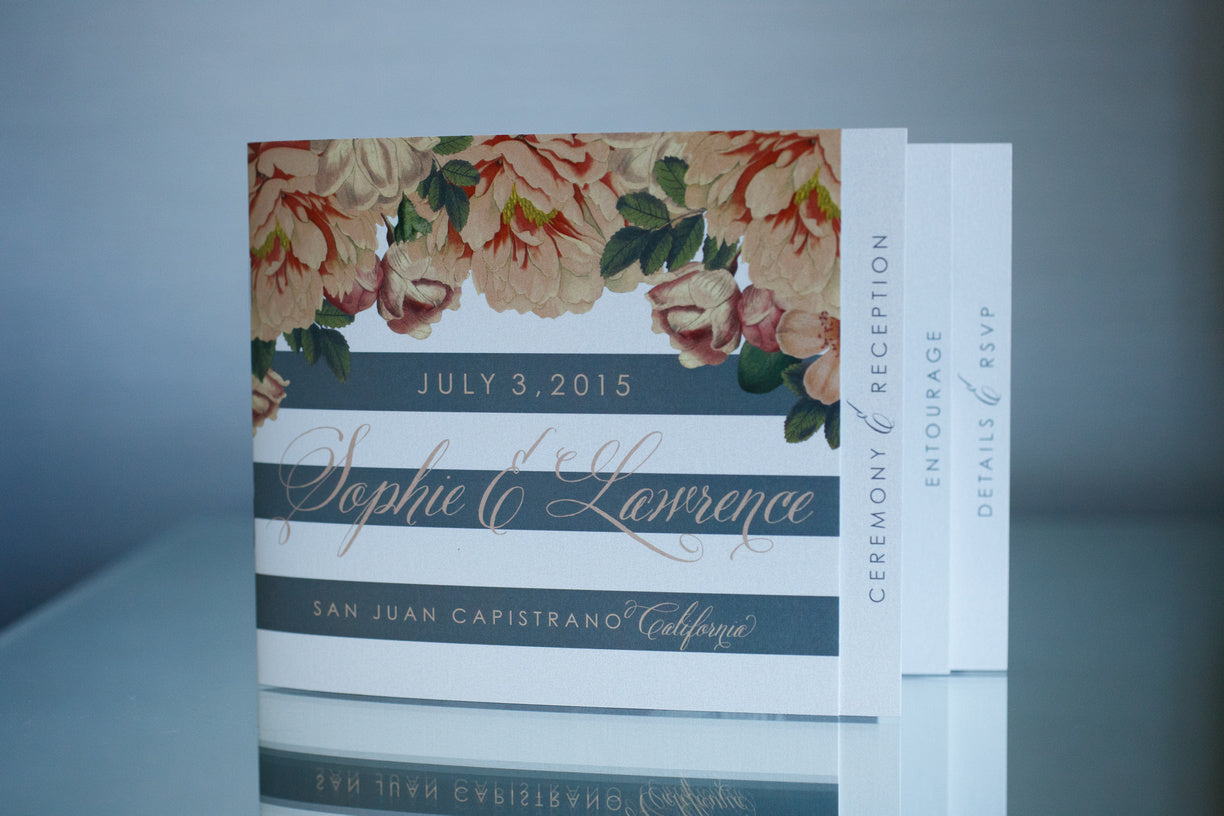 Custom Wedding Invitation Booklet