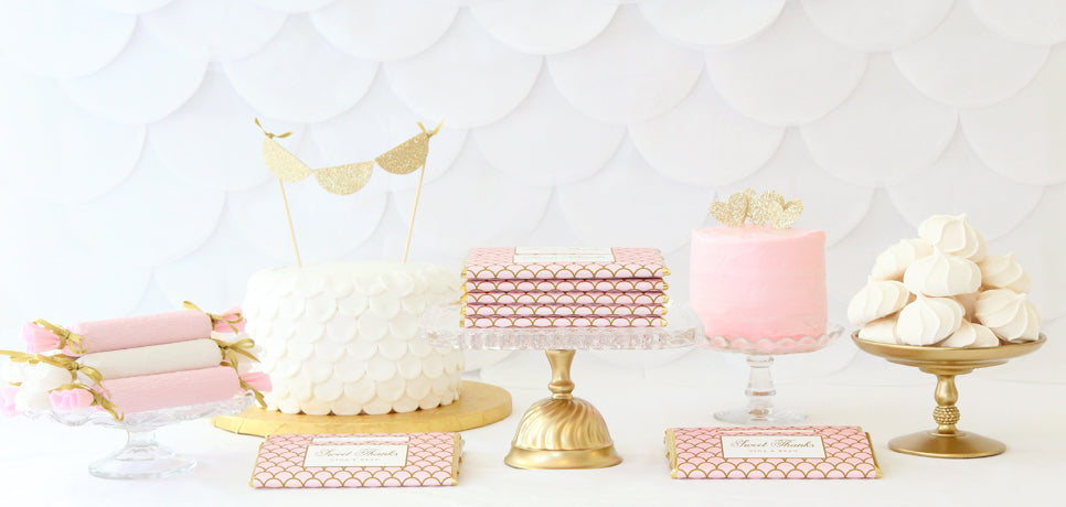 Pink Amp Gold Scalloped Sweets Table Free Printable