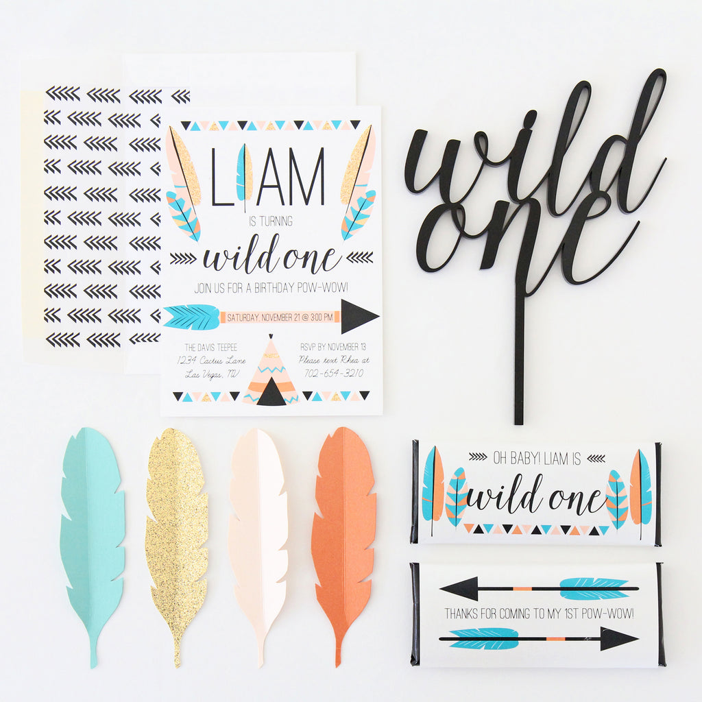 Wild One Tribal 1st Birthday Party - Sweet Paper Shop Blog