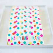 Happy Hanukkah Confetti Dots Wrapper- Chanukka Sweets Table - Joy of Kosher Feature - Sweet Paper Shop