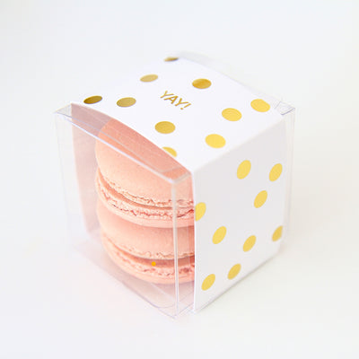 Personalized Gold Confetti Dots Favor Box - Sweet Paper Shop