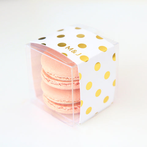 Gold Polka Dots Favor Box
