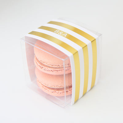 Personalized Gold Striped Favor Box - Sweet Paper Shop
