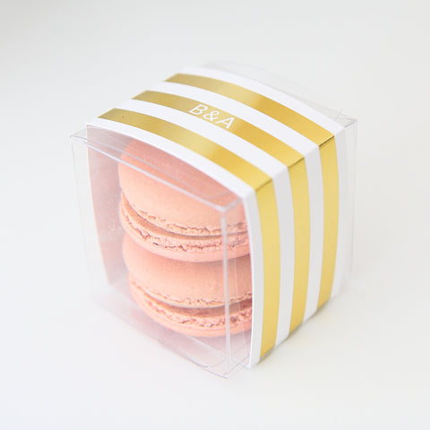 Gold Striped Favor Box