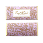 Elegant Floral Personalized Candy Bar Wrapper