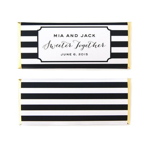Modern Stripes Personalized Candy Bar Wrapper Sweet