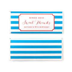 Modern Stripes Personalized Candy Bar Wrapper - Sweet Paper Shop