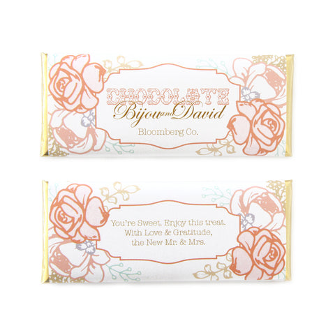Peach and Blush Vintage Rose Wrapper