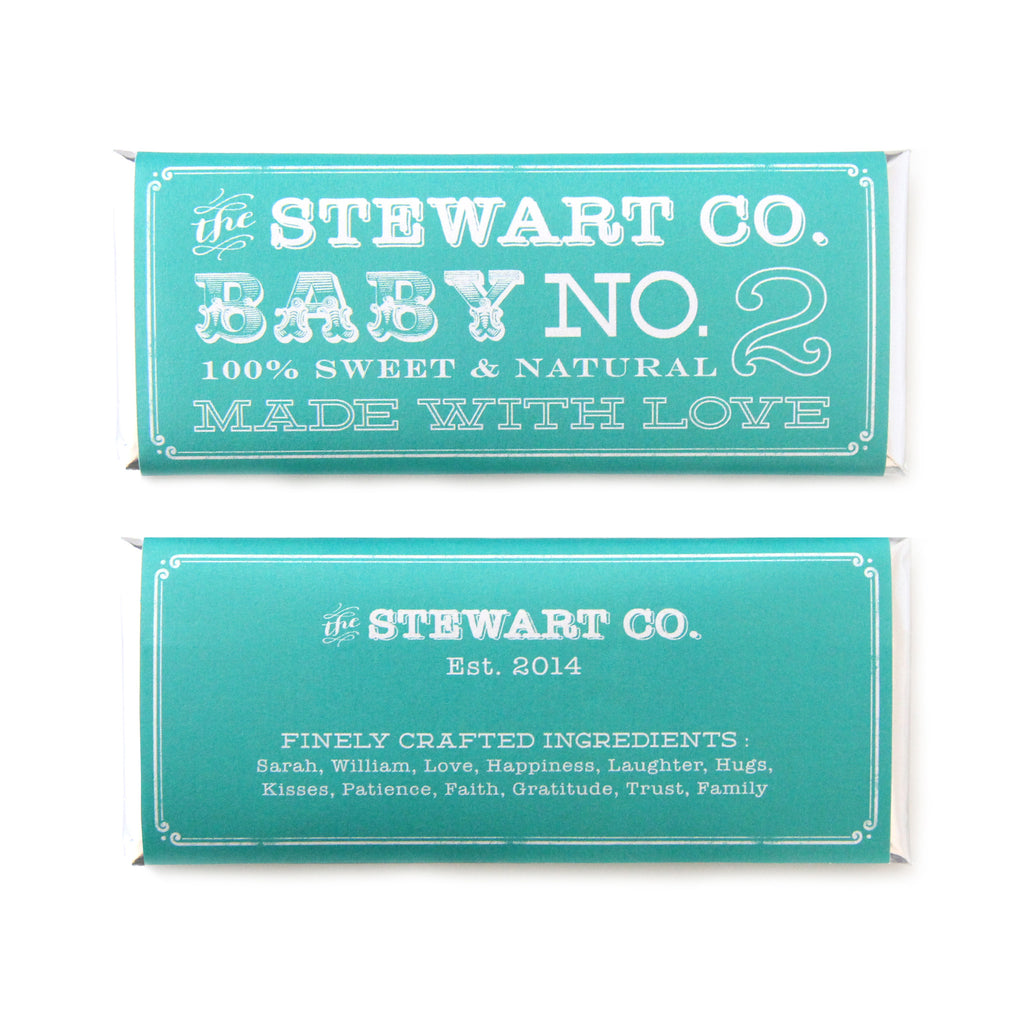 Vintage Rustic Baby Shower Personalized Candy Bar Wrapper - Sweet Paper Shop