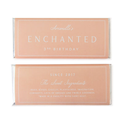 Classic Dotted Border - Personalized Candy Bar Wrapper and Foil