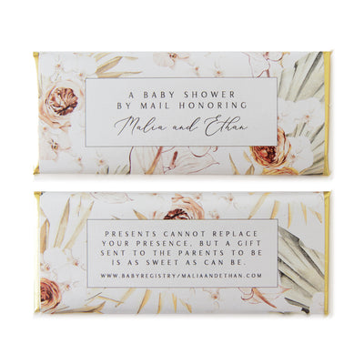 Tropical Bohemian Palm Floral - Personalized Candy Bar Wrapper and Foil