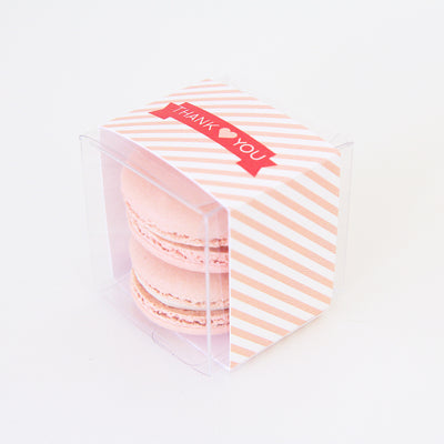 Ribbon Banner and Diagonal Stripes Favor Box - Sweet Paper Shop