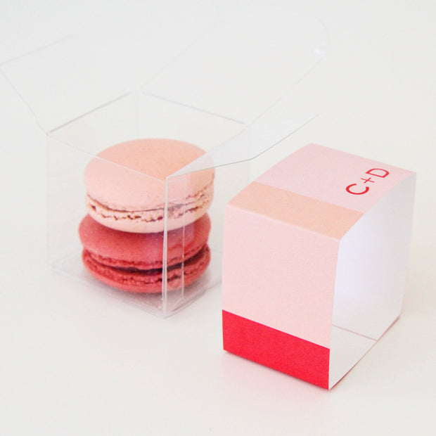 Color Block Favor Box Personalized Favor Box - Sweet Paper Shop
