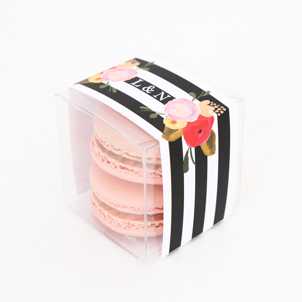 Roses and Stripes Personalized Favor Box - Sweet Paper Shop