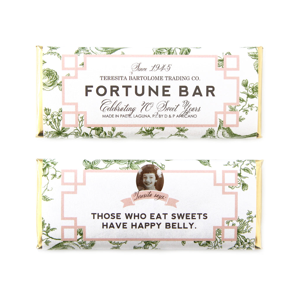 Olive Green Chinoiserie Fortune Personalized Candy Bar Wrapper - Sweet Paper Shop