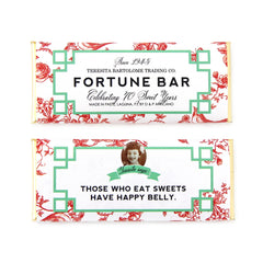 Red Chinoiserie Fortune Personalized Candy Bar Wrapper - Sweet Paper Shop
